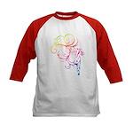 Rainbow Horse Flourish Kids Baseball Jersey