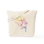 Rainbow Horse Flourish Tote Bag