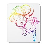 Rainbow Horse Flourish Mousepad