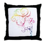 Rainbow Horse Flourish Throw Pillow