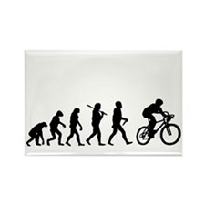 Evolution Cycling Funny Rectangle Magnet