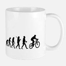 Evolution Cycling Funny Mug