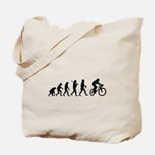 Evolution Cycling Funny Tote Bag