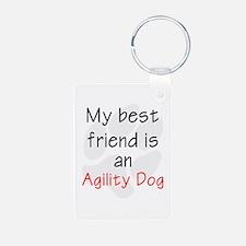 My Best Friend is an Agility Dog Keychains