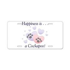 Happiness is...a Cockapoo Aluminum License Plate