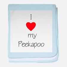 I love my Peekapoo baby blanket