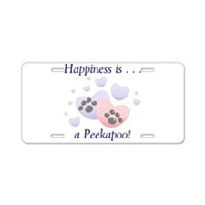 Happiness is...a Peekapoo Aluminum License Plate