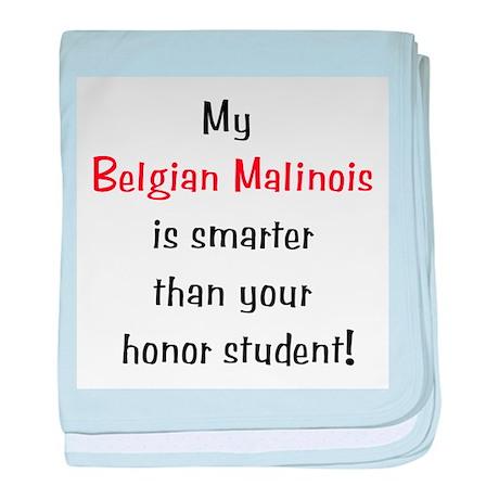 My Belgian Malionis is smarte baby blanket