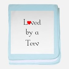Loved by a Terv <br> baby blanket