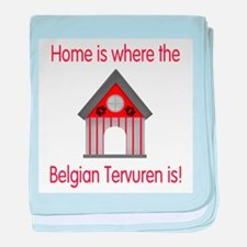 Home is where the Belgian Ter baby blanket