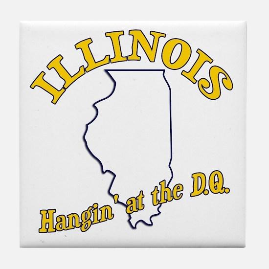 Vintage Illinois Tile Coaster