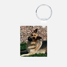 Quizzical German Shepherd Dog Keychains