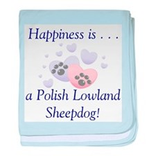 Happiness is...a Polish Lowla baby blanket