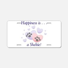 Happiness is...a Sheltie Aluminum License Plate