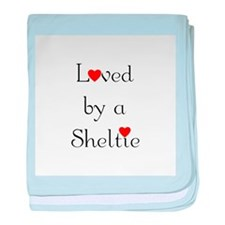 Loved by a Sheltie baby blanket