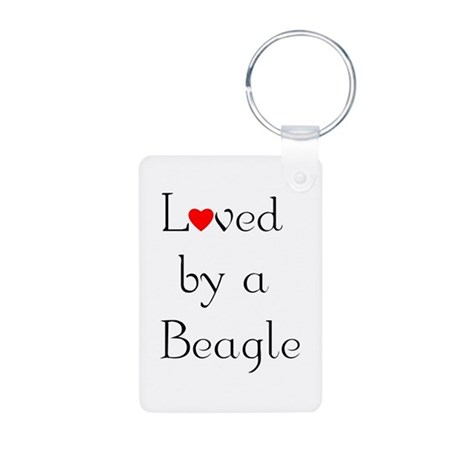 Loved by a Beagle Aluminum Photo Keychain
