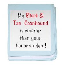 My Black & Tan Coonhound is s baby blanket