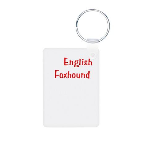 My English Foxhound is smarte Aluminum Photo Keych