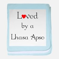 Loved by a Lhasa Apso baby blanket