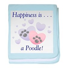 Happiness is...a Poodle baby blanket