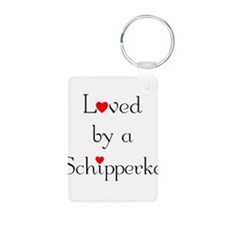 Loved by a Schipperke Keychains