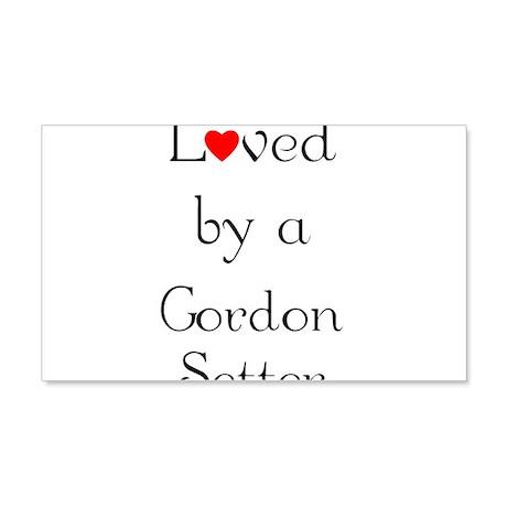 Loved by a Gordon Setter 22x14 Wall Peel