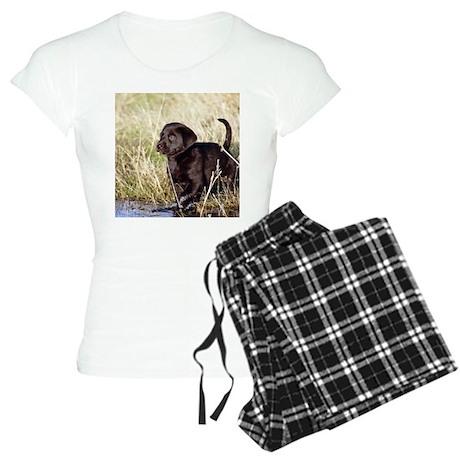 Black Lab Puppy Women's Light Pajamas