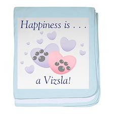 Happiness is...a Vizsla baby blanket