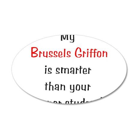 My Brussels Griffon is smarte 38.5 x 24.5 Oval Wal