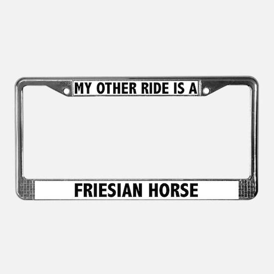 Friesian Horse License Plate Frame