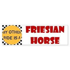 Friesian Horse Bumper Bumper Sticker