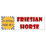 Friesian Horse Bumper Sticker