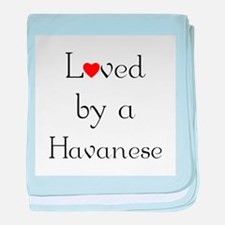 Loved by a Havanese baby blanket