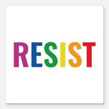 "Glbt Resist Square Car Magnet 3"" x 3"""