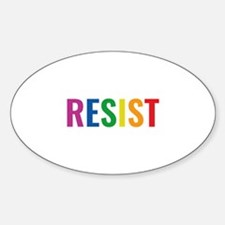 Glbt Resist Sticker (Oval)