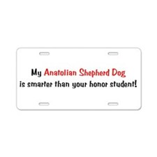 My Anatolian Shepherd Dog is Aluminum License Plat