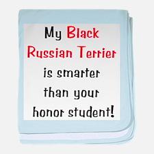 My Black Russian Terrier is s baby blanket