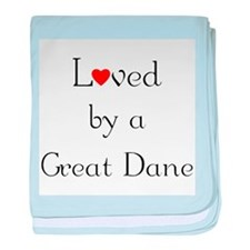 Loved by a Great Dane baby blanket