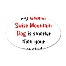 My Greater Swiss Mt Dog is sm 38.5 x 24.5 Oval Wal