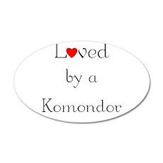 Loved by a Komondor 22x14 Oval Wall Peel