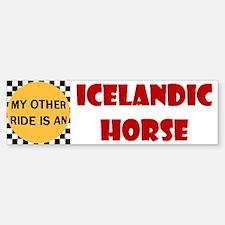 My Other Ride Is An Icelandic Bumper Bumper Bumper Sticker