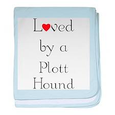 Loved by a Plott Hound baby blanket