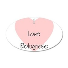 I Love Bolognese 38.5 x 24.5 Oval Wall Peel