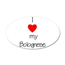 I love my Bolognese 22x14 Oval Wall Peel