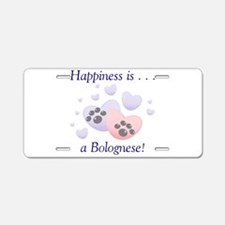 Happiness is...a Bolognese Aluminum License Plate