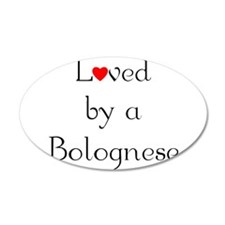 Loved by a Bolognese 38.5 x 24.5 Oval Wall Peel