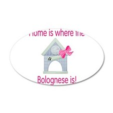 Home is where the Bolognese i 38.5 x 24.5 Oval Wal