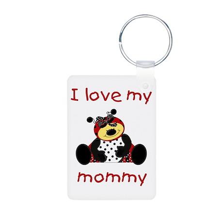 I love my mommy (girl ladybug Aluminum Photo Keych
