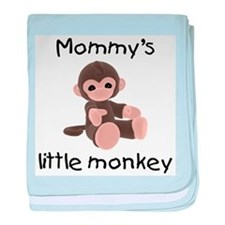 Mommy's little monkey (brown) baby blanket
