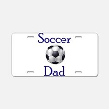 Cute Soccer dad Aluminum License Plate